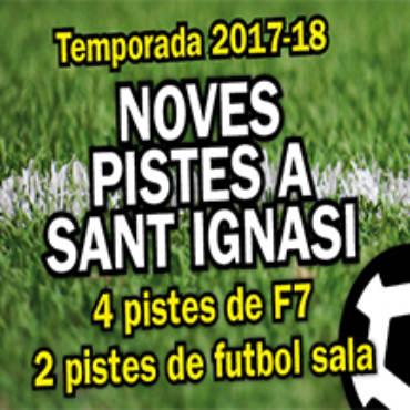 Nous camps de futbol a Sant Ignasi